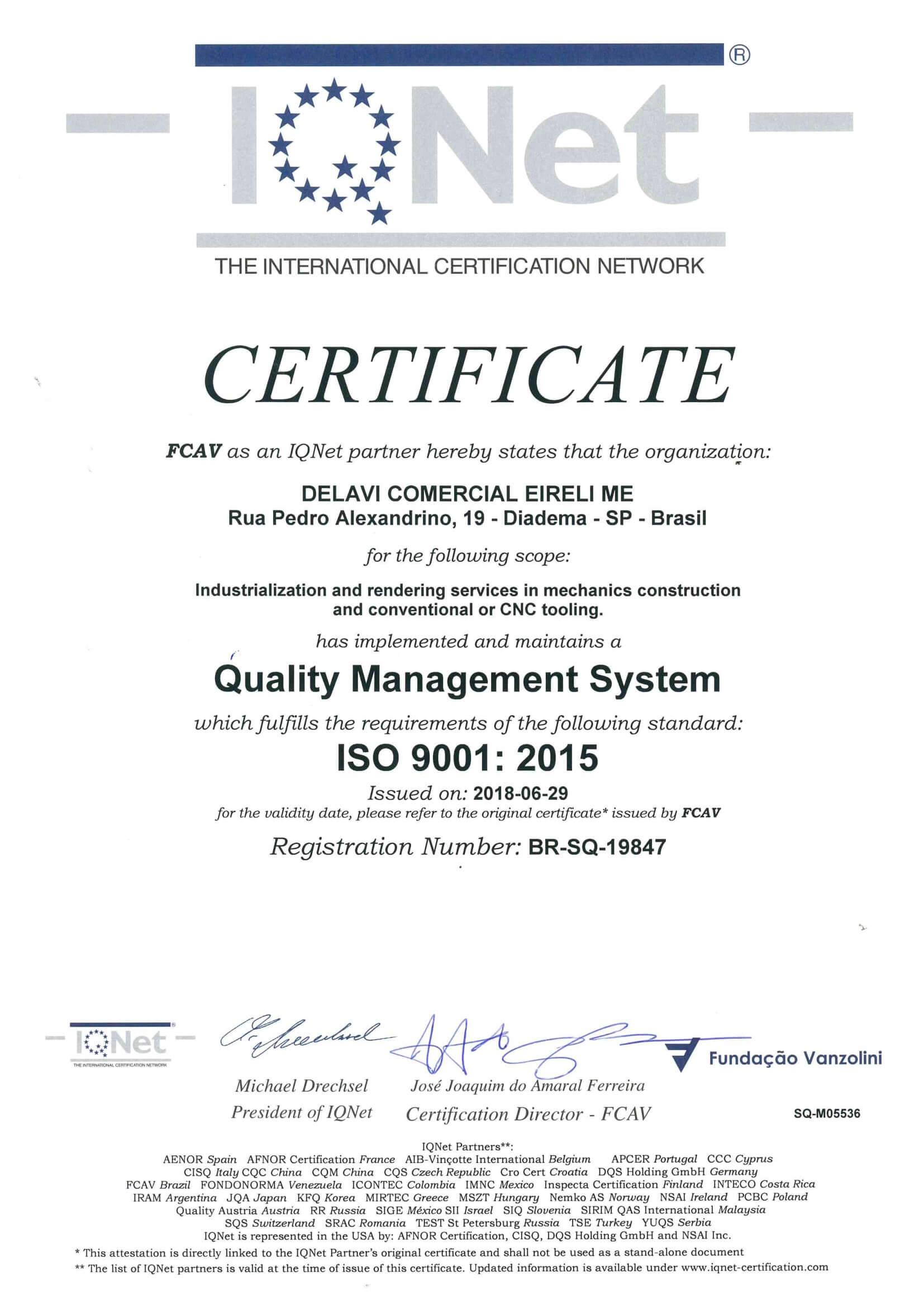 Nossos Certificados